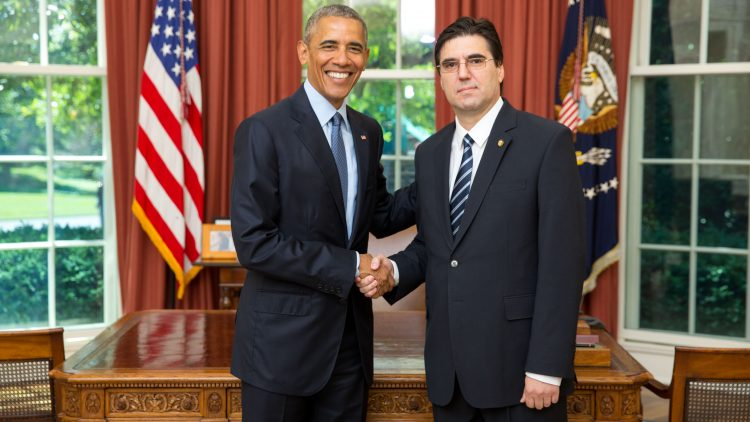 Ambassador Tihomir Stoytchev presented his Credentials to the President of the United States of America Barack Obama