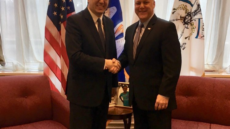 Ambassador Tihomir Stoytchev meets the Mayor of New Orleans Mitch Landrieu