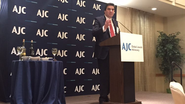 Ambassador Tihomir Stoytchev was a special guest at the 26th Annual Ambassadors' Seder organized by the American Jewish Committee (AJC)