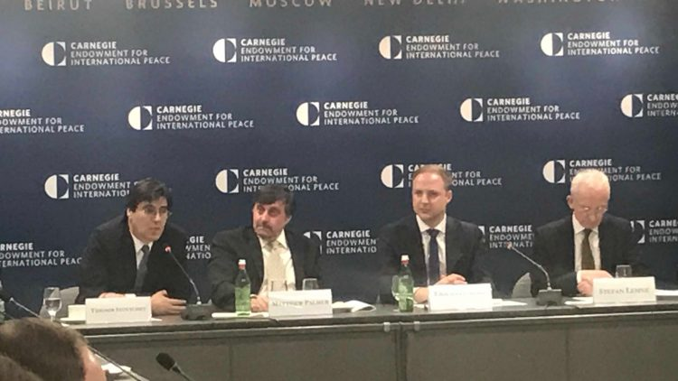 Ambassador Tihomir Stoytchev participates in a roundtable discussion for the Western Balkans and the Euro-Atlantic perspective for the countries in the region